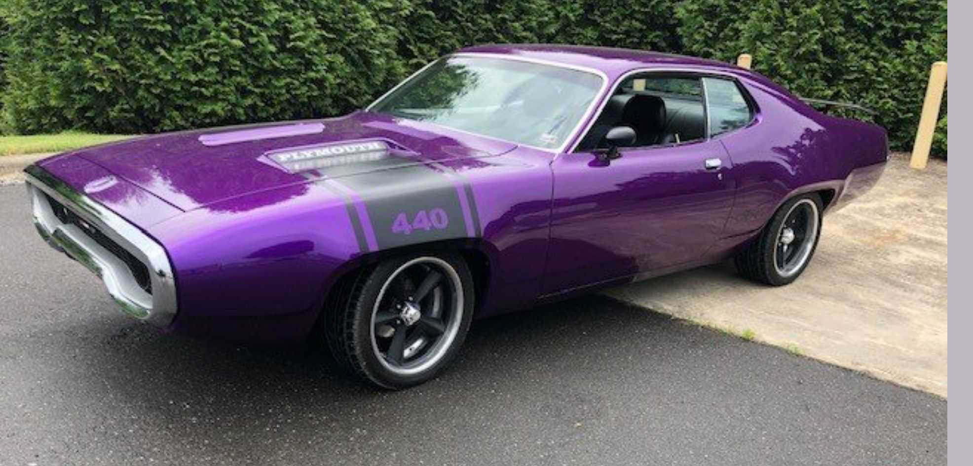 1. 1971 Plymouth GTX in Purple