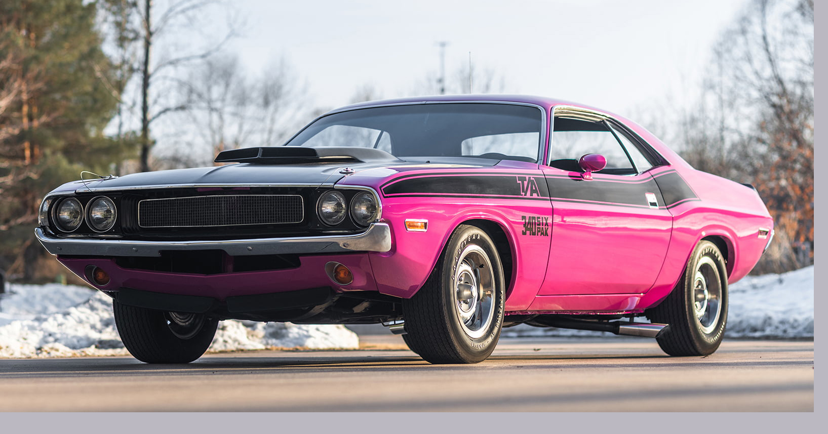 2. 1971 Pink Panther Dodge Challenger T-A